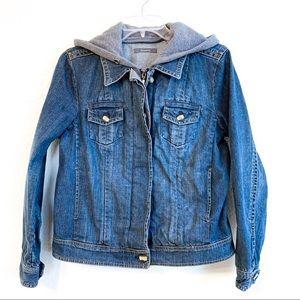Liz Claiborne Petite Hooded Denim Jacket